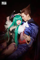 Morrigan and Demitri by aoandou
