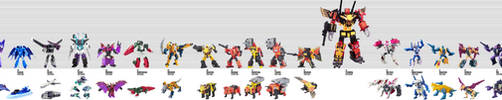 The Transformers Movie Decepticons Size Chart by KaijuATTACK877