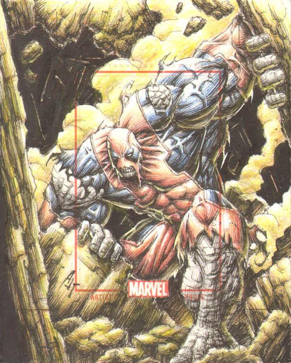 Marvel card AP Hulkpool by AnthonyTAN7775