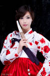Red and White Hanbok