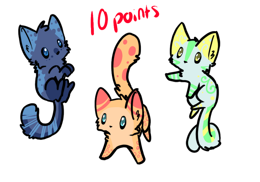 Adopts #1 -Open- *One left* by Furry-Adopts576