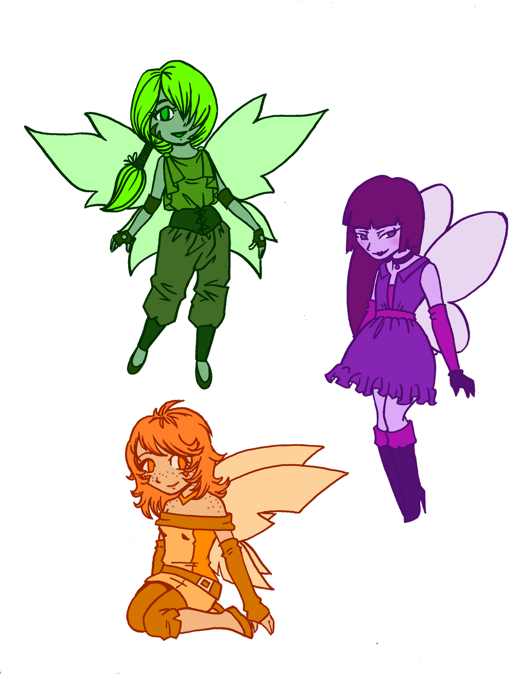 Secondary Color Fairies By Death G Reaper