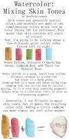 Watercolor skin tones tutorial