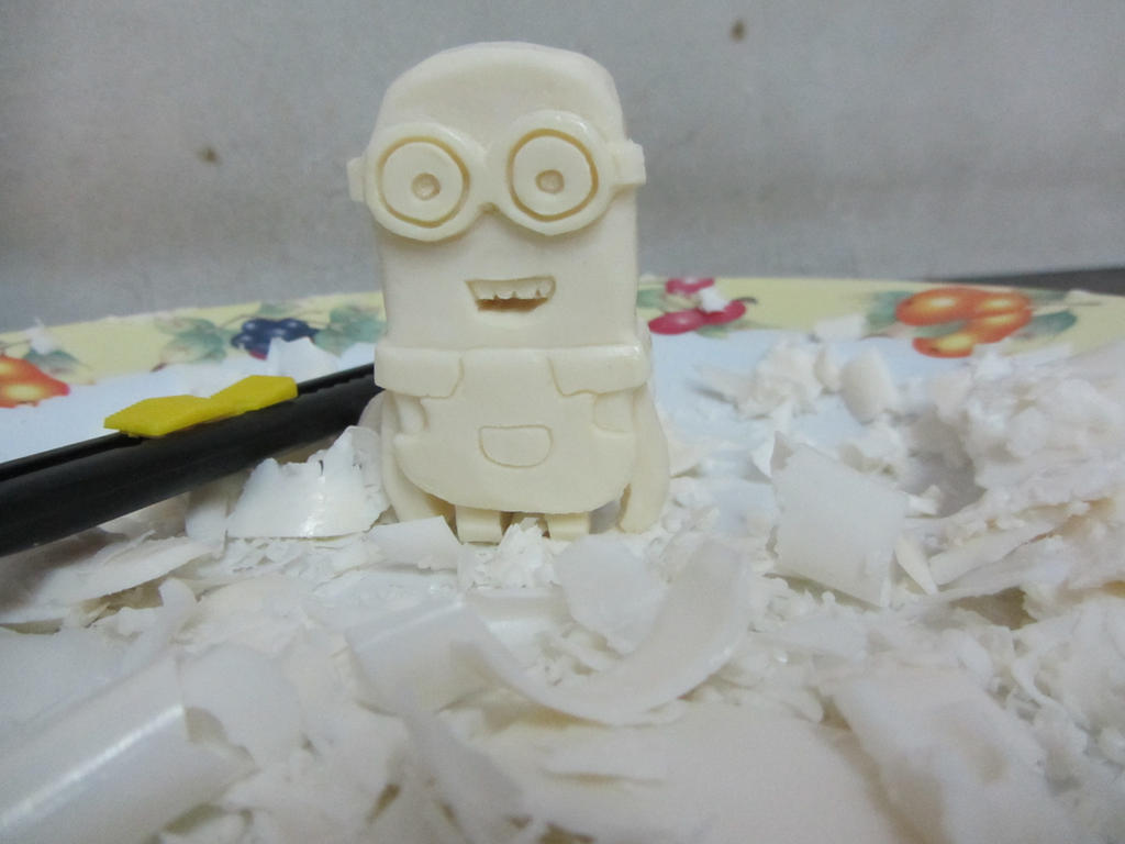 minion soap carving by moopal d7m0nrn fullview