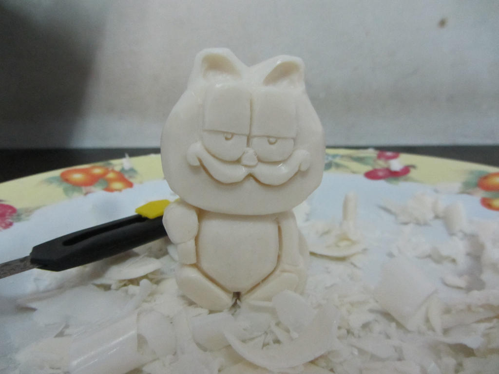 Garfield soap carving by moopal on deviantart
