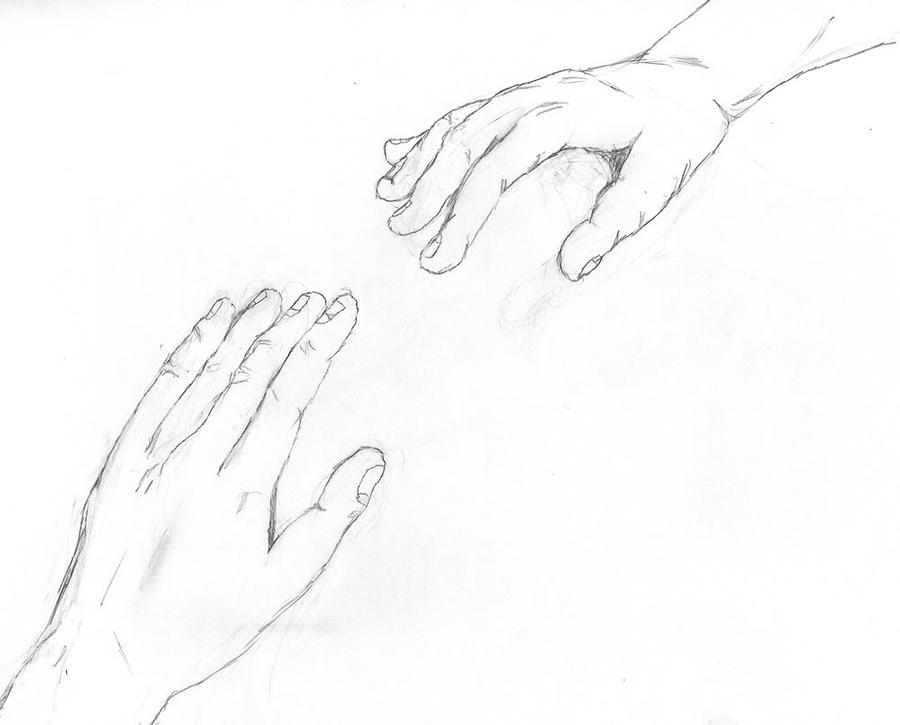 Pics For > Reaching Out Hand Drawing