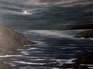 Untitled'moonlit ocean'