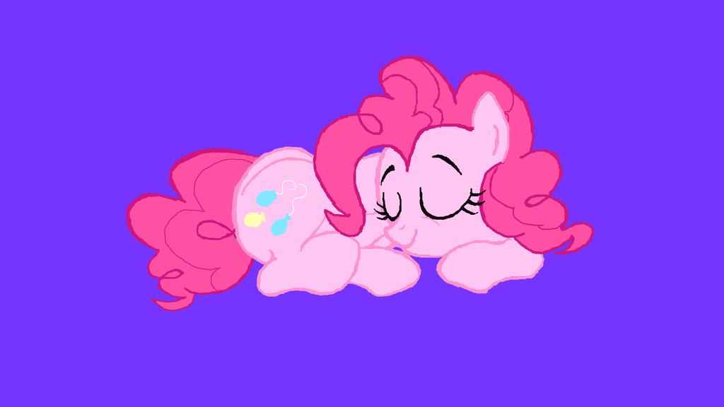sleeping pinkie pie vector - photo #27