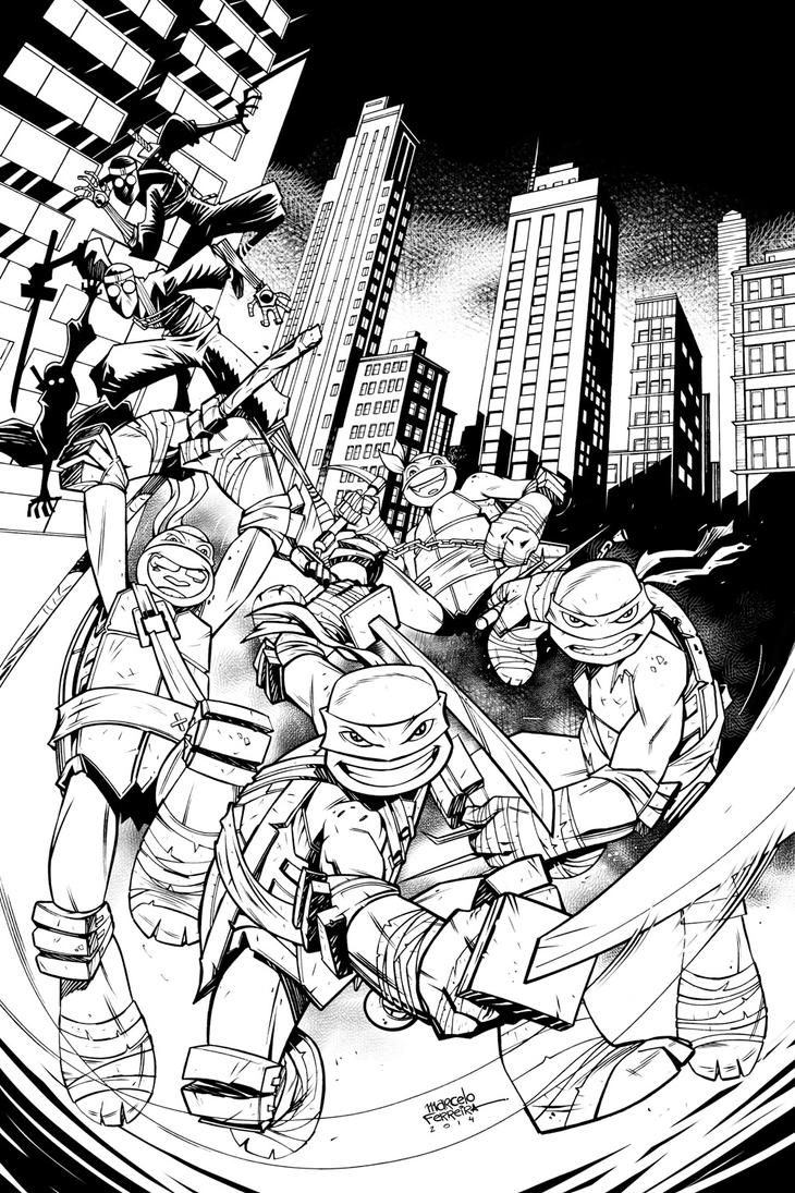 TMNT New Animated Adventures#11 - variant cover by MarcFerreira