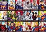 Superman The Legend sketchcards - part 2