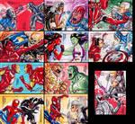 Marvel Greatest Battles sketchcards - part II