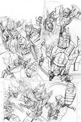 Transformers - Combiner Wars#5 - page 02 pencils by MarcFerreira