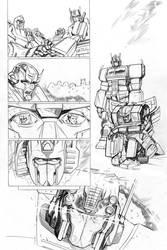 Transformers - Combiner Wars#5 - page 11 pencils by MarcFerreira