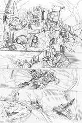 Transformers - Combiner Wars#5 - page 13 pencils by MarcFerreira