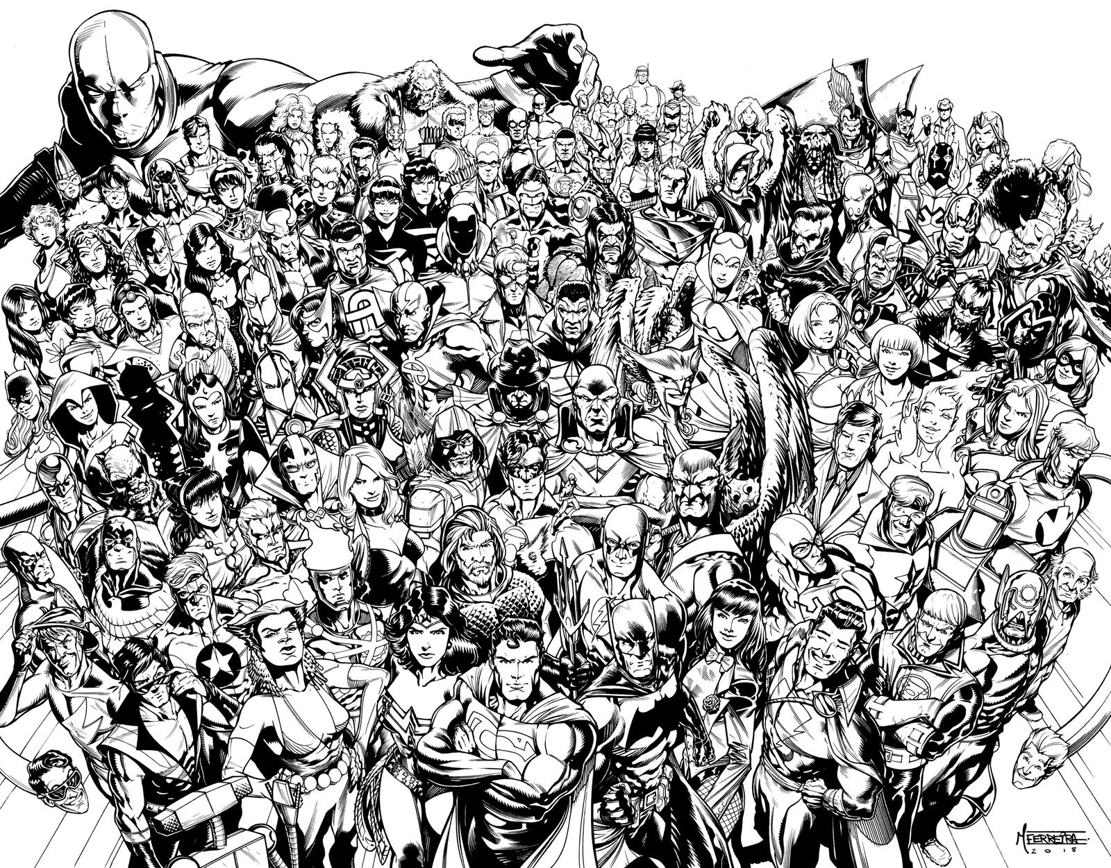 JLA roster by MarcFerreira