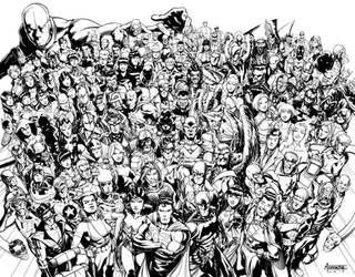 JLA roster by MarcFerreira