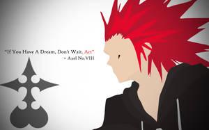 Kingdom Hearts Axel  Minimalist Wallpaper Quote