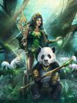 Druid girl advanced by LexPaul
