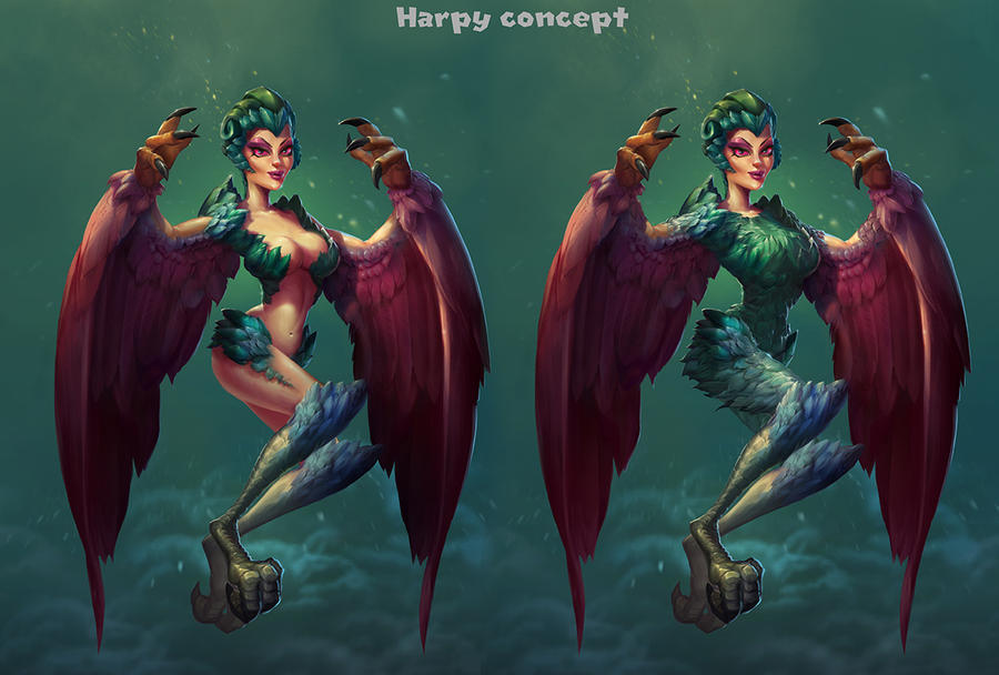 Harpy color2 by AlexandrescuPaul