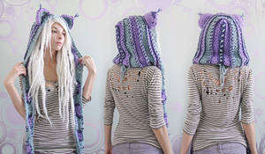 Purple Haze kitty hood!