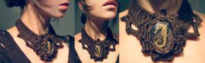 seahorse crochet necklace