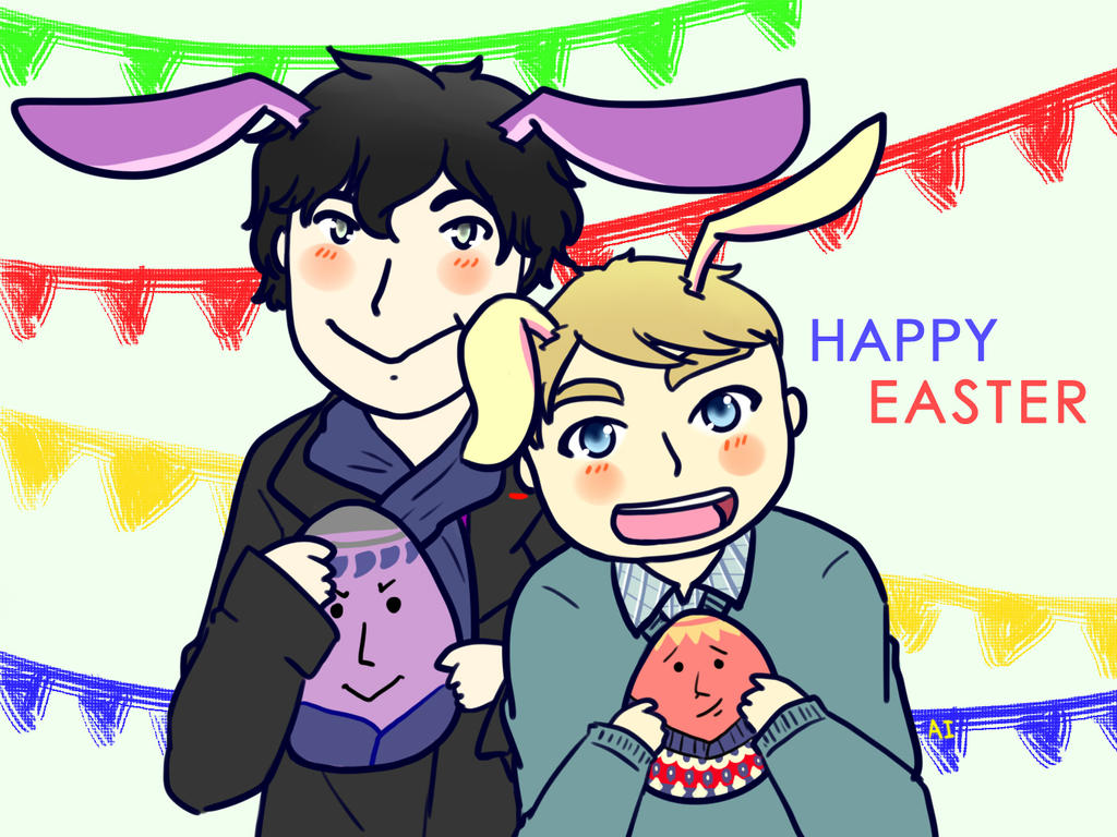 Johnlock : Happy Easter by AILocked