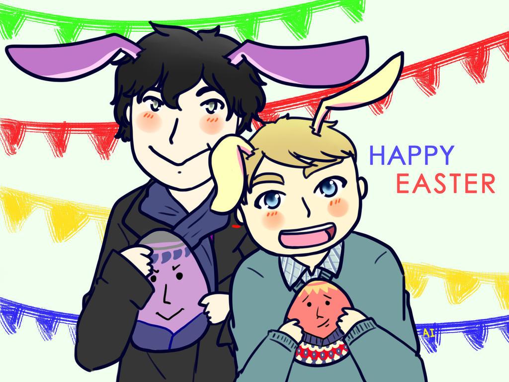 Johnlock : Happy Easter by AILocked