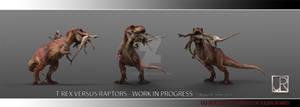 T-REX VS RAPTORS 001