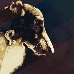 Dither Hound by WildebeestNinetyNine