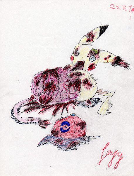 zombie pikachu by leyzy on DeviantArt