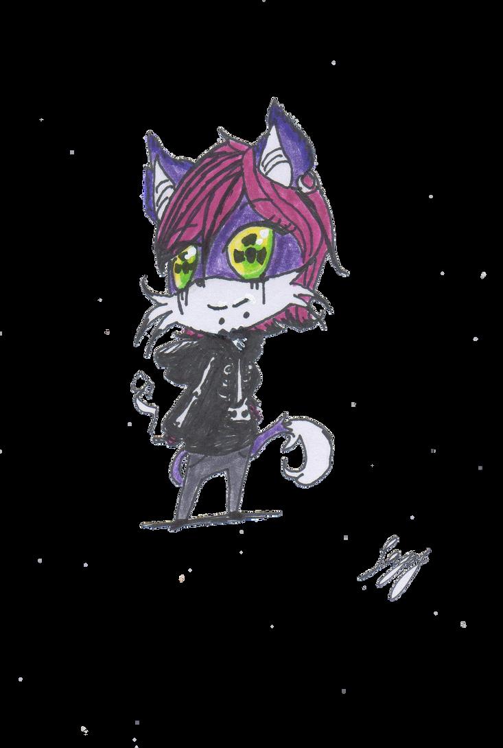 chibi toxi cat by leyzy