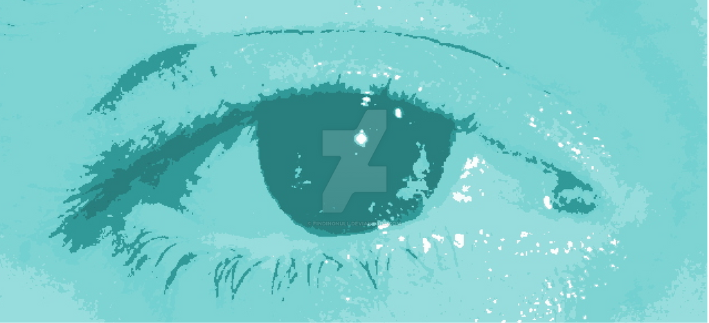 Teal eye by findingNull