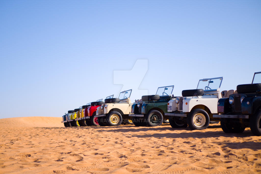 Land Rover Line Up by raveka