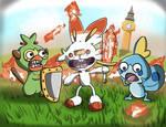 Scorchedbunny n Friends - Pokemon Sword and Shield