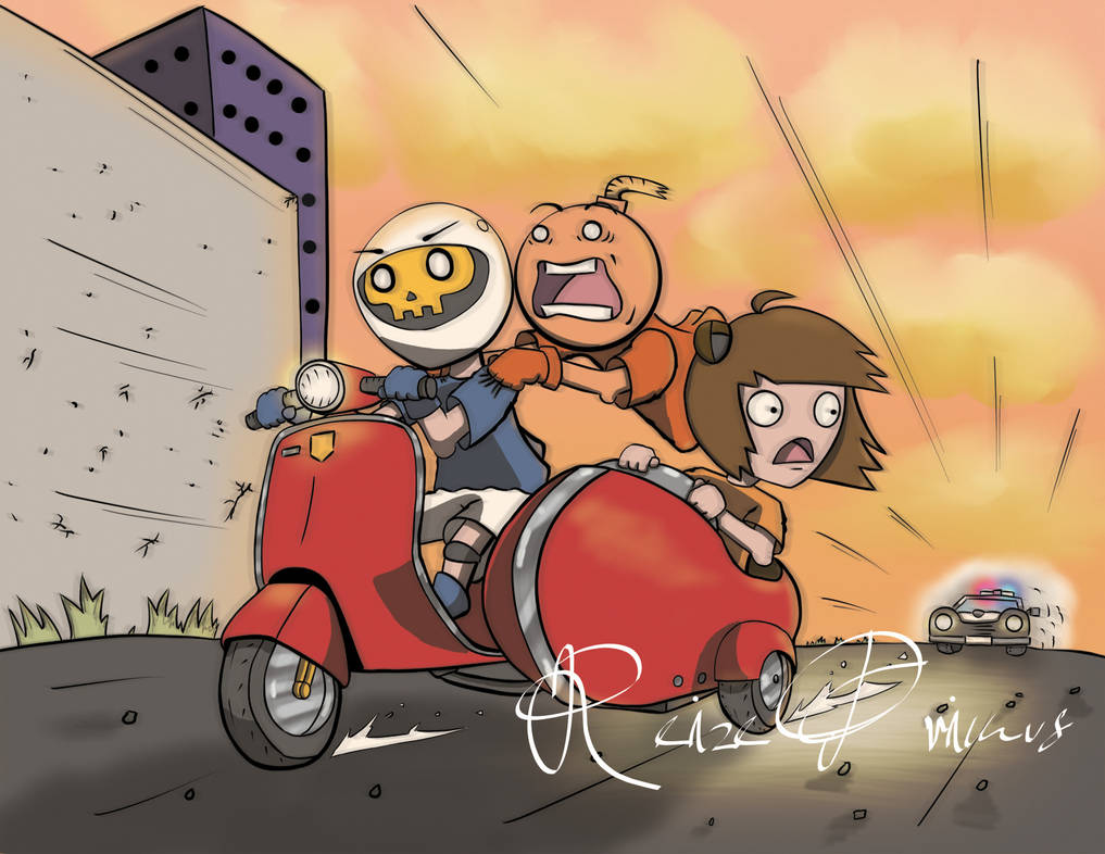 Running the Cops on a Vespa by raveka