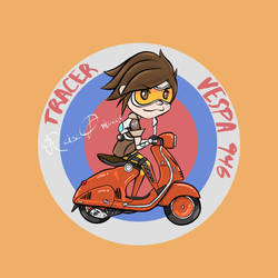 Tracer and 2013 Vespa 946