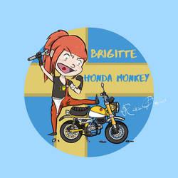 Brigitte and 2019 Honda Monkey