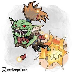 Dungeons and Dragons Goblin Artillerist Artificer