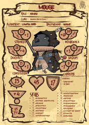 Dungeons and Dragons 5E Hand Drawn Character Sheet