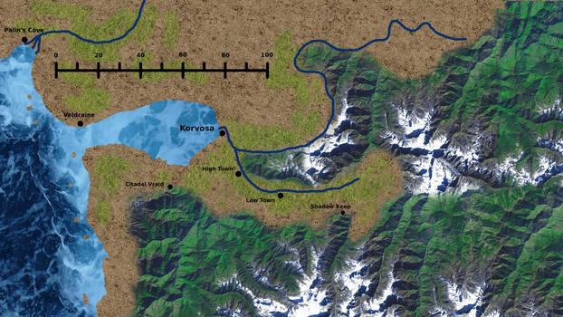 Korvosa Valley Map