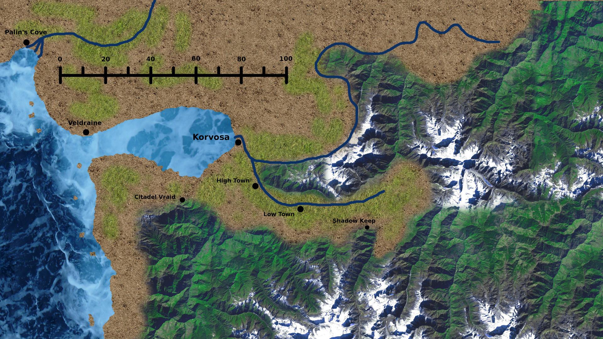Korvosa Valley Map By GameMaster666 Korvosa Valley Map By GameMaster666