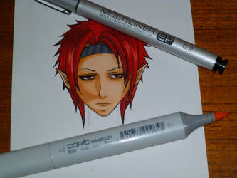 Red haired elf boy WIP