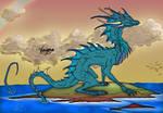 Sea Dragon Coloured