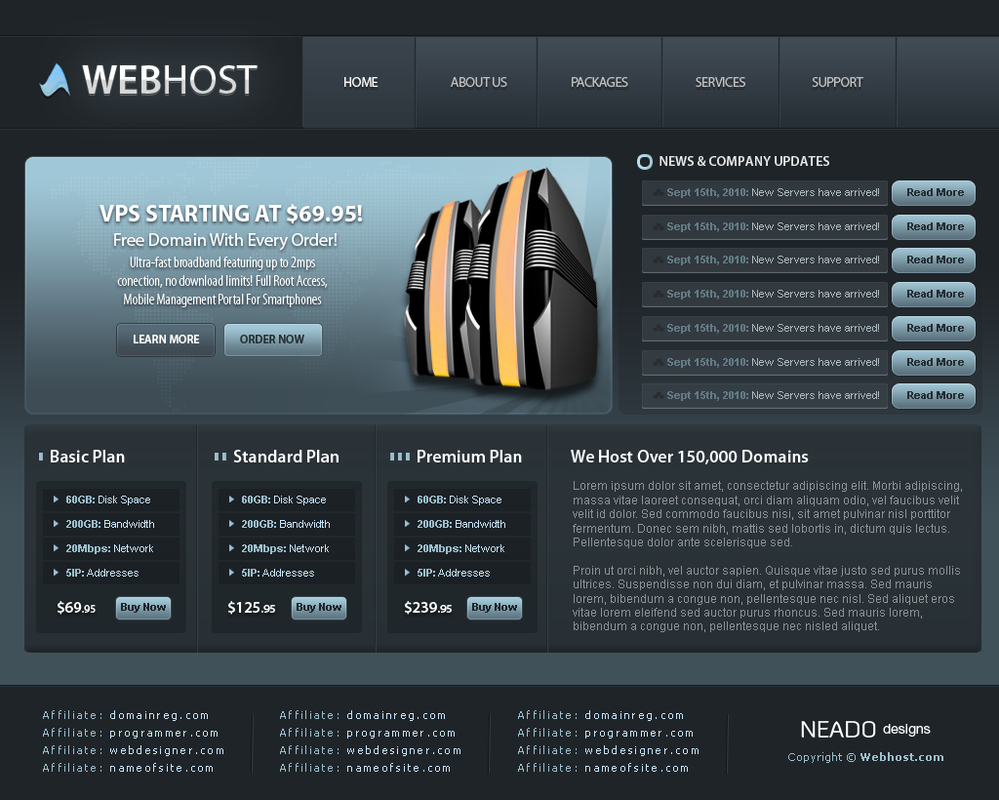 Webhost by neadodesigns
