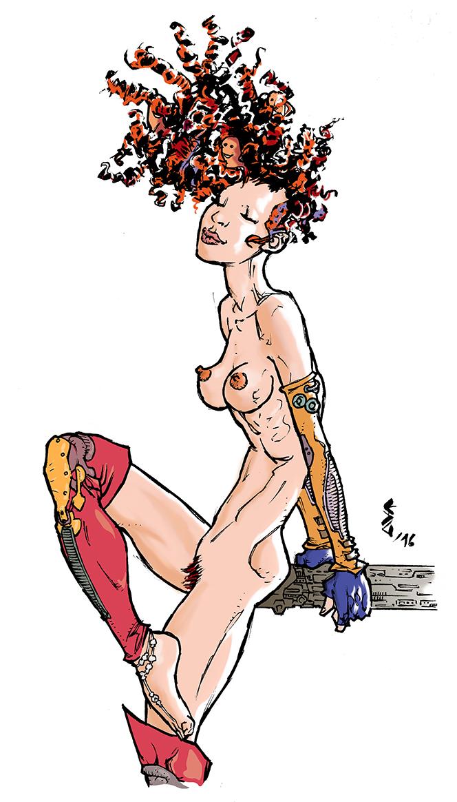 Nude SKetCH #44 by ErolDebris