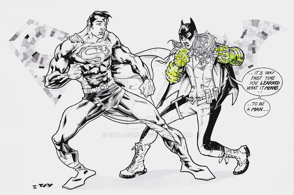 Batgirl vs Superman SKetCH #51 by ErolDebris