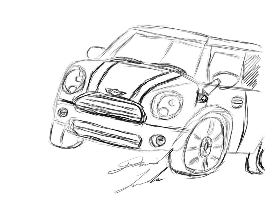 Mini Cooper Sketch by Deadmenkil on DeviantArt