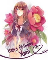 HAPPY [belated] BIRTHDAY YUMI-CHWANNN by pepperplane