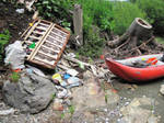 River and garbage by jajafilm