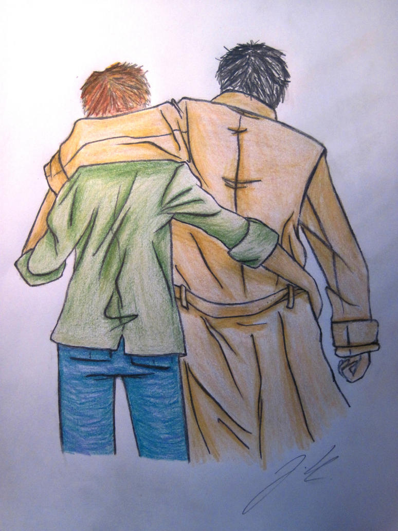 Cas and Dean by jajafilm